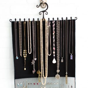 Black Combination Necklace and Earring Hanger
